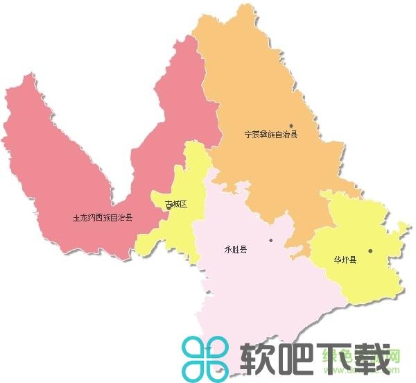 丽江卫星地图高清版